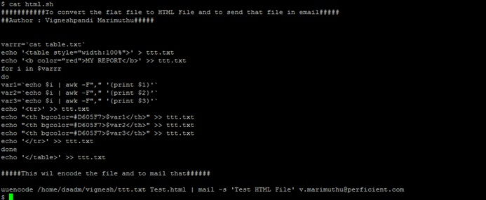 mail option in unix