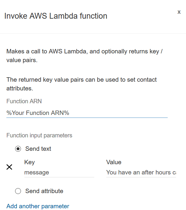 Set up Amazon Connect call flows for SMS alerts