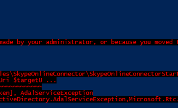 Skype for Business Online - Enabling MFA for PowerShell Sessions