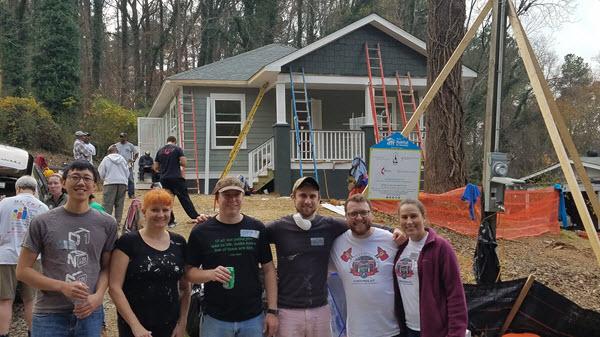 Atlanta Habitat for Humaity Perficient team