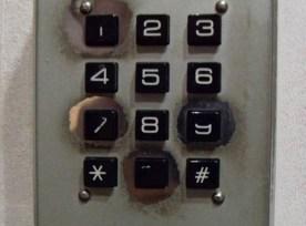 10-key pad showing wear