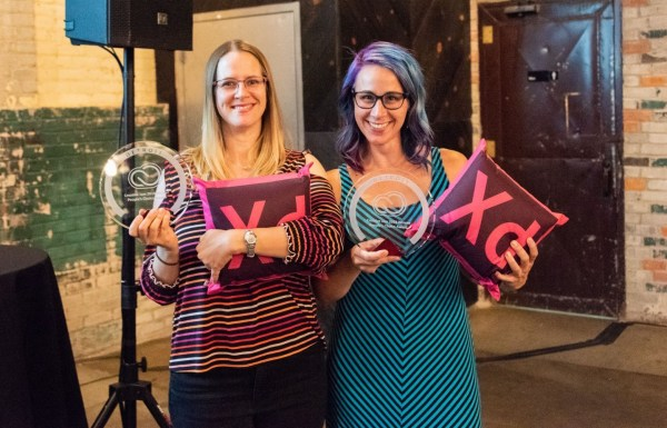 Perficient's Jenny Shaddach and Marti Gukeisen win first place at Adobe Creative Jam.