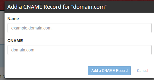 add a cname record 2 salesforce community perficient