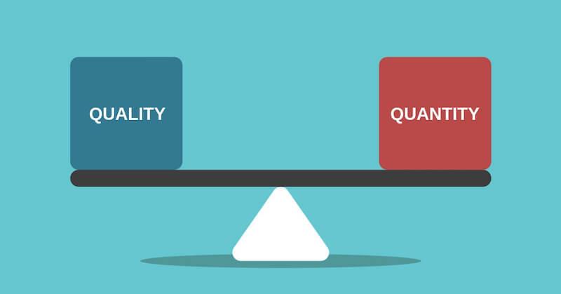 quality quantity content balance 800