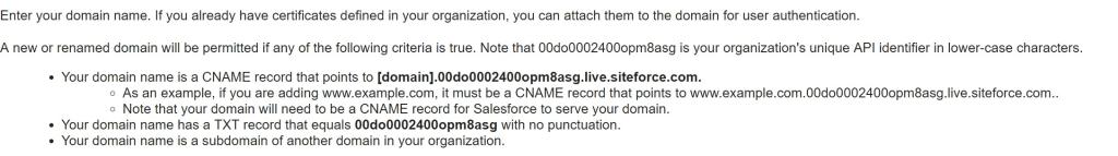 unique cname record salesforce community perficient