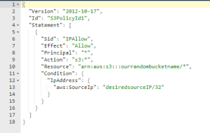 policy json screenshot