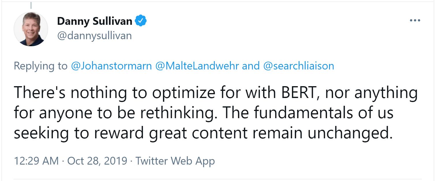 Danny-Sullivan-BERT-fundamentals-of-seeking-great-content-remain-unchanged