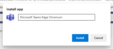 Microsoft Teams Edge Chromium
