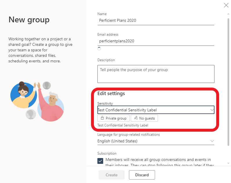 Outlookonthewebsensitivitylabel