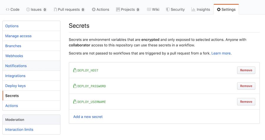 Configure GitHub Action Instances