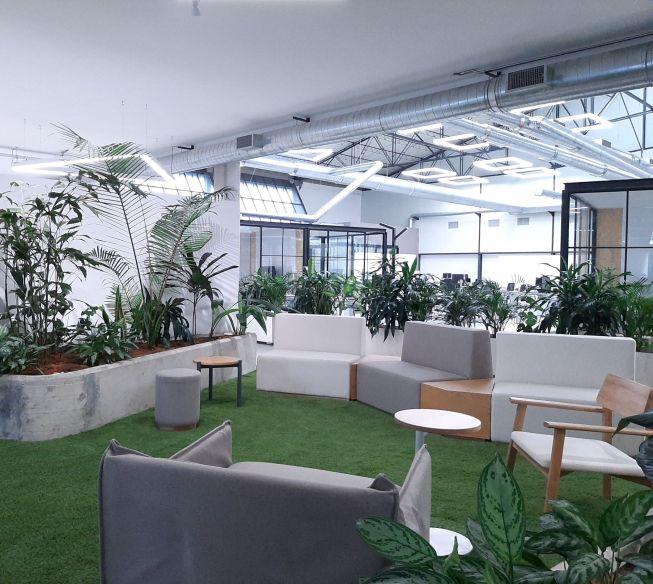 Perficient Latin America Medellin Office Lounge Area