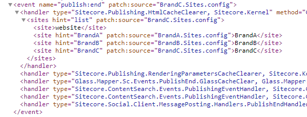 Website source code screenshot
