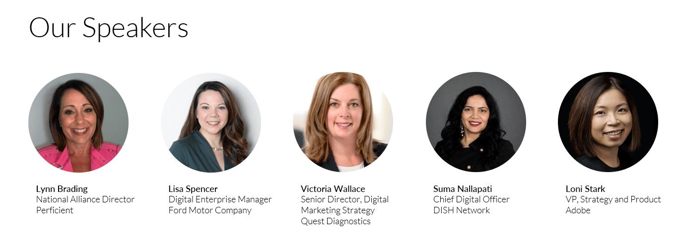 Women in Digital speakers