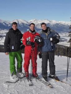 Zane Stark (far left) and fellow Denver Senior Consultant Austin Kaess (far right) enjoying a Friday on the slopes.