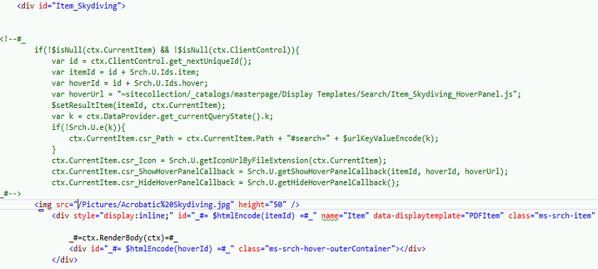 display template sharepoint 2013