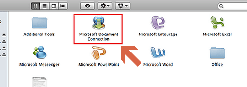how to delete microsoft document connection on mac