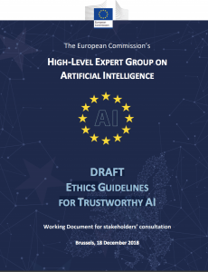EU Ethics Guidelines for Trustworthy AI