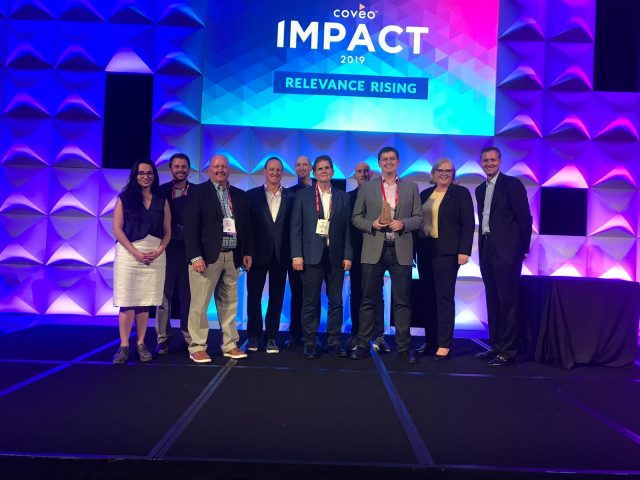 Perficient and Coveo teams at Coveo Impact 2019 Award Ceremony