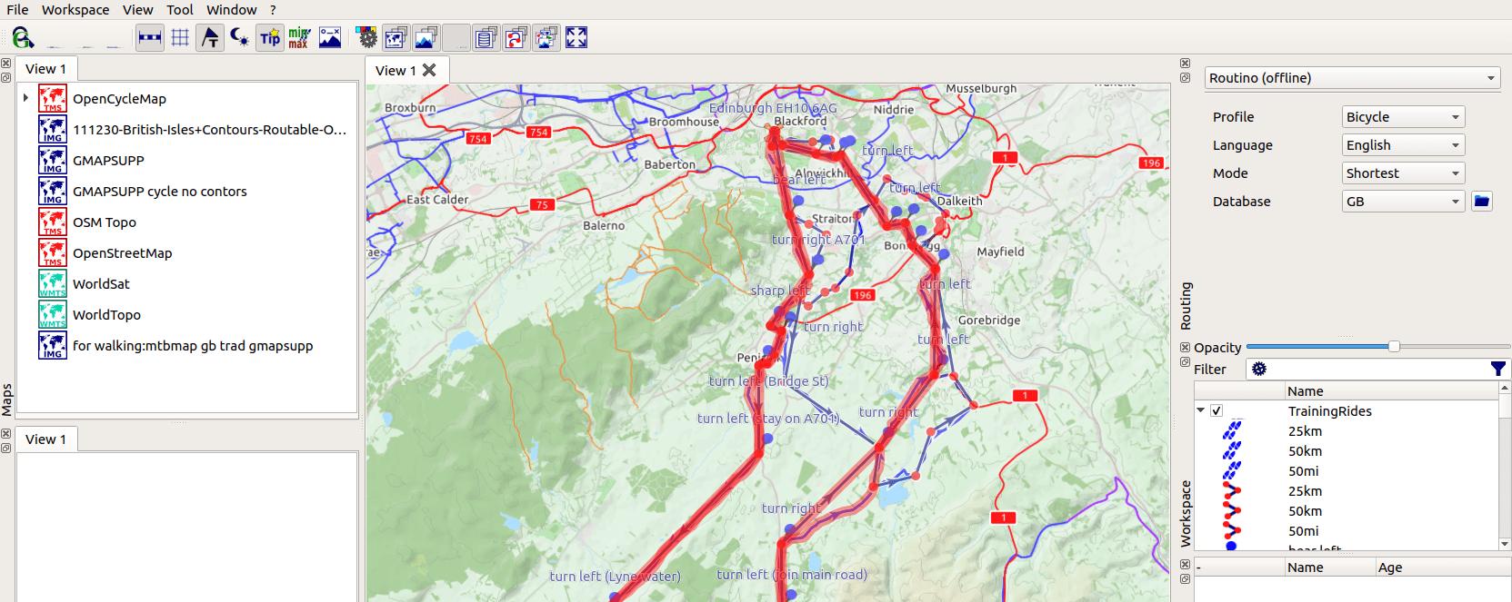 Cycle route planning for Garmin eTrex Vista on Ubuntu 18 04
