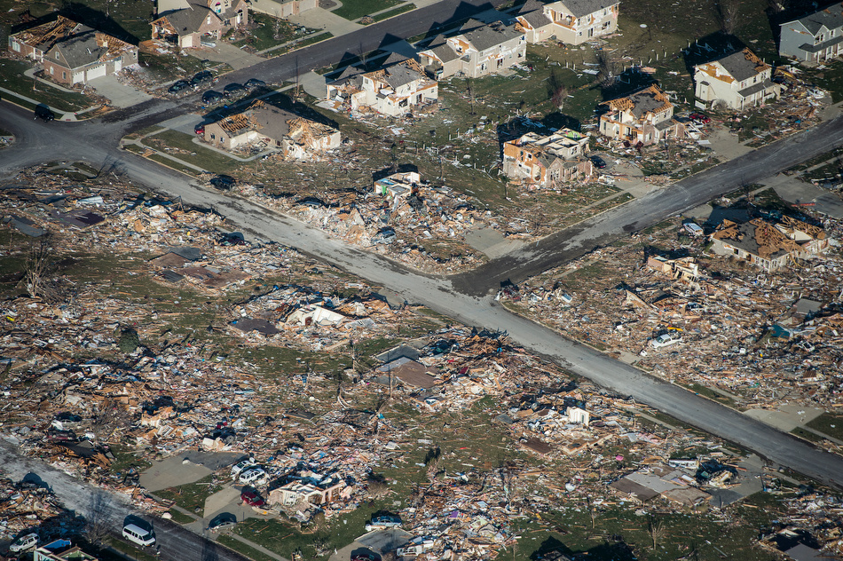 Aerial view of the Washington, Ill., tornado courtesy of the Peoria Journal Star