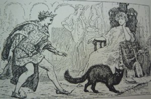 "Illustration from ""Prince Hyacinth and the Dear Little Princess (Blue Fairy Book, p. 12), with Ford's signature on lower right."