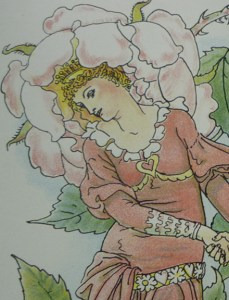 "Walter Crane's ""blushing Rose"" (Queen Summer) Inspired by Mrs. Rose?"
