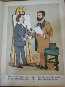 Lothar Meggendorfer, Gute Bekannte (Stuttgart: W. Nitzsche, c. 1880), p. 25.