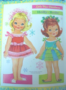 Miss Christmas and Holly Belle paper dolls designed by Elizabeth Anne Voss.