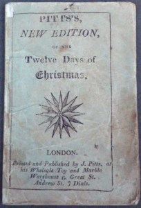 "Upper wrapper of Pitt's ""new edition"" of the Twelve Days of Christmas (cover title)"