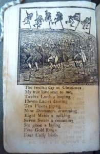 Woodcut of the twelve pole-vaulting lords