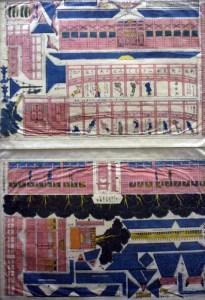 Shinban Ueno Toeizan kirikumi toro-e. [Newly Printed Ueno Toeizan Cut and Assemble Sheet] Illustrated by Kuninaga. Tokyo? ca. 1920?