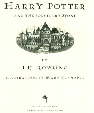 46385: the title page with the vignette of Hogwarts