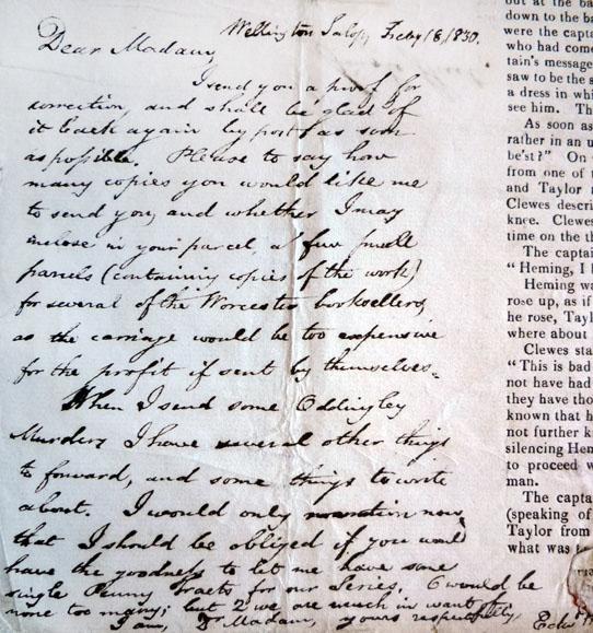 Houlsten's letter to Sherwood