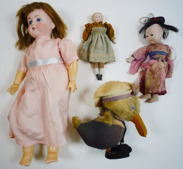 Four of Josephine's dolls