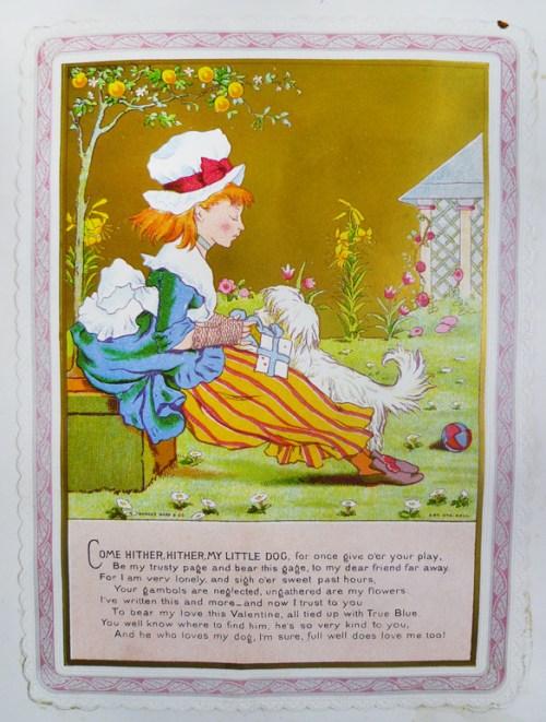 "Card at bottom of leaf [13], ""Mr. Goul 1874""."