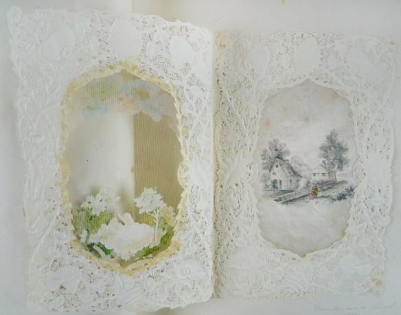 Inside of the card on leaf [4], perhaps a later original drawing by Beatrix Potter?