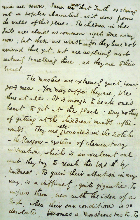 Charles Dickens Letter About Ragged Schools