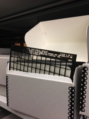 Some theses are stored on microfiche. These can be viewed using a computer aided machine at Mudd Library.