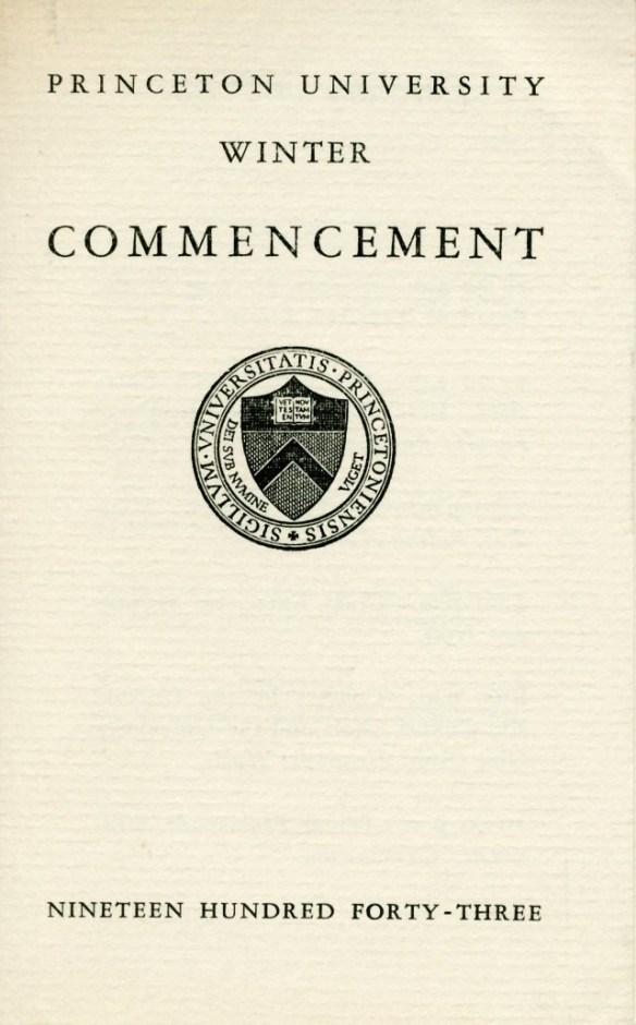 Commencement_Schedule_Jan_1943_AC115_Box_9_Folder_4