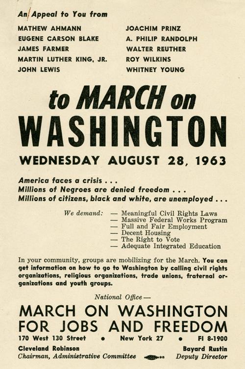 March_on_Washington_Flyer_MC001_Box_1120_Folder_11