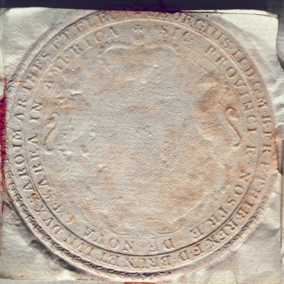 Seal of the governor of the province of New Jersey, 1748.