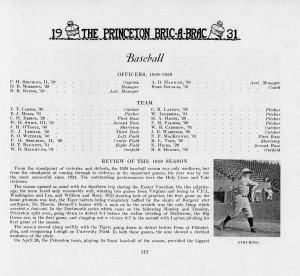 Team roster in the 1931 Bric-a-Brac
