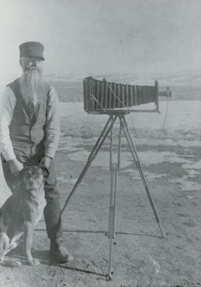 A.G. Wallihan with His Dog and Camera.