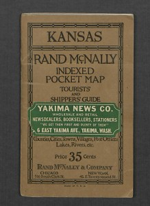 Rand McNally Indexed Pocket Map & Tourists' and Shipper's Guide, ca. 1923.
