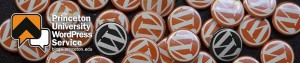 Princeton University WordPress Service banner image