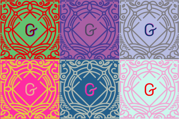 Warhol-style version of the Gutenberg logo