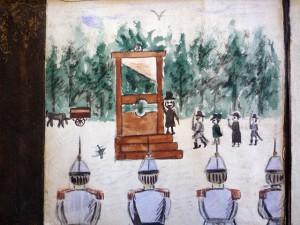 Un Crime Effroyable, guillotine scene