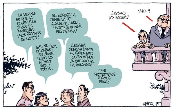 Zapatero mira su pecera particular
