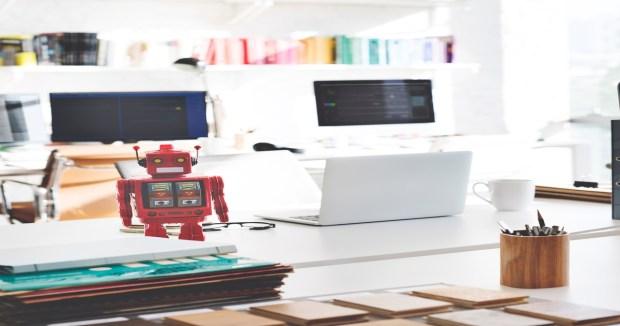 Robot on desktop