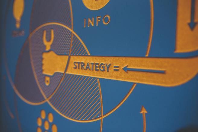 Strategy written on arm holding tool